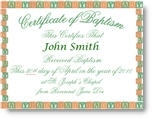 Baby Baptism Certificate Inscribed