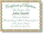 Baby Baptism Certificate Inscribed
