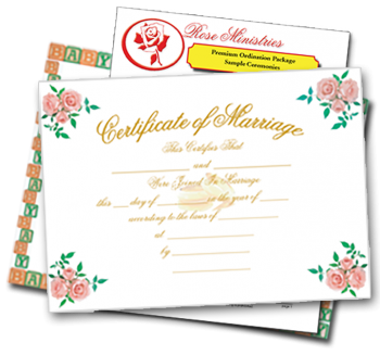 Wedding Ceremonies and Certificates Downloadable