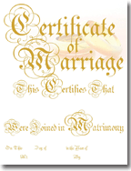 Classic Marriage Certificates