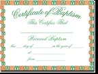 Baby Baptism Certificates
